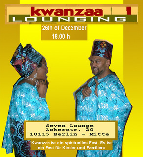 poster for our kwaanza lounging event