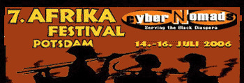 banner for the 7th afrika festival in potsdam
