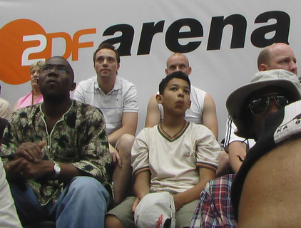 the ZDF arena audience at the soccer world mastership